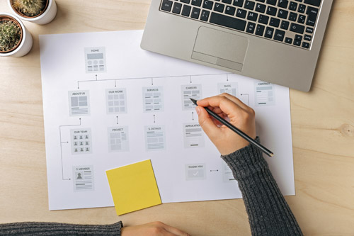 Planning and designing a website